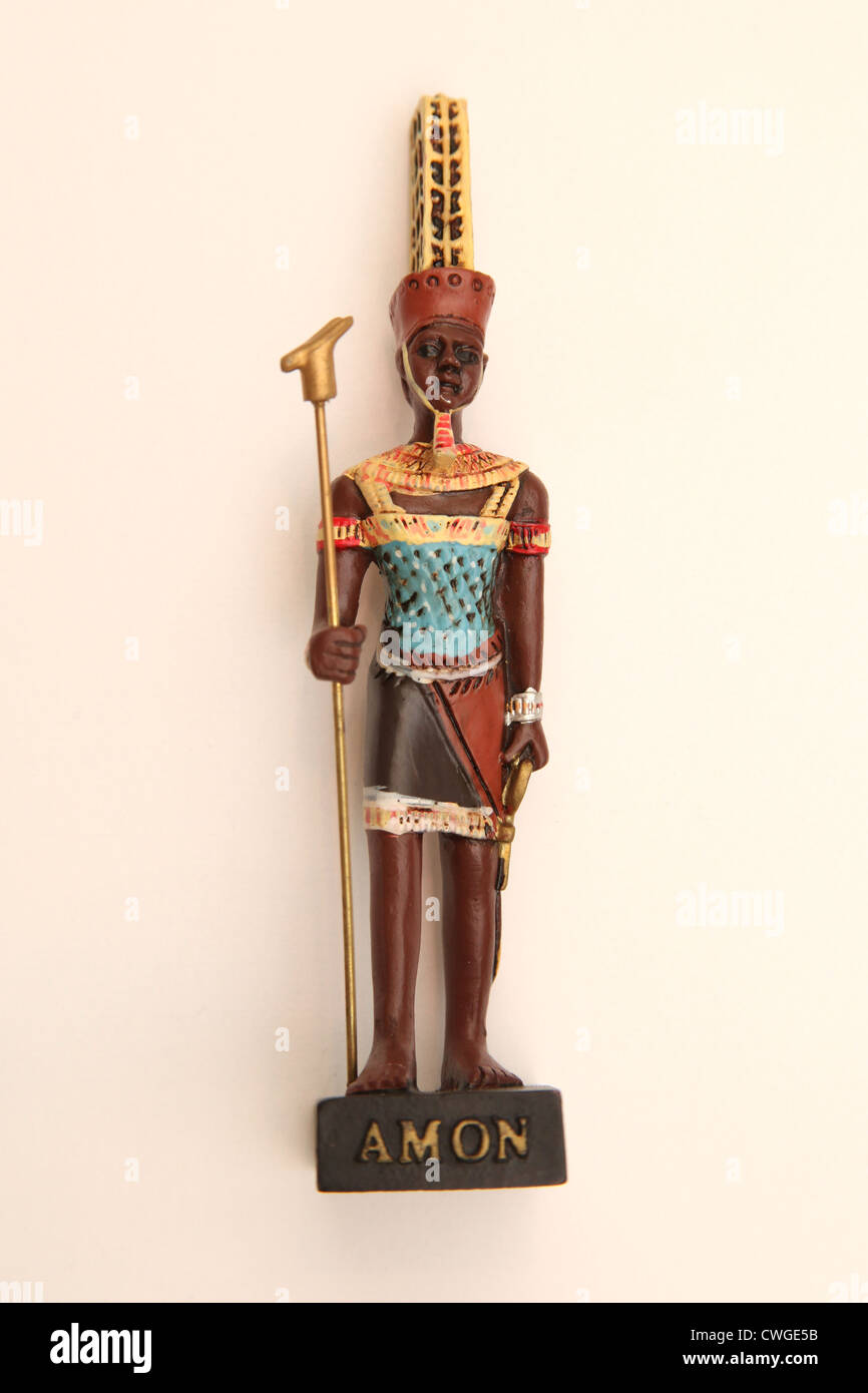 A collectible Egyptian model figure, The God Amon. - Stock Image