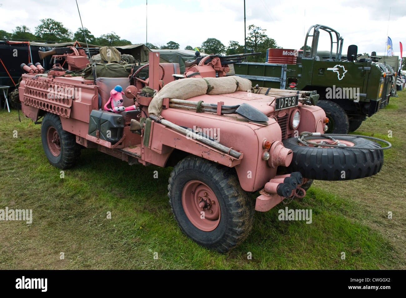 Land Rover 4x4 SAS special forces Pink Panther military vehicle at annual Eastnor Land Rover Show Herefordshire - Stock Image