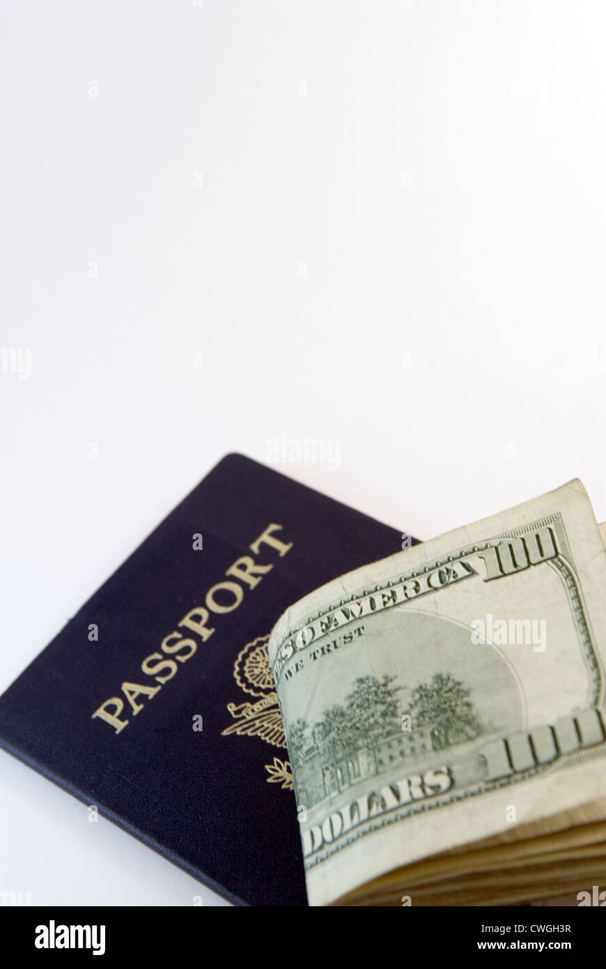 USA Currency & PassportStock Photo