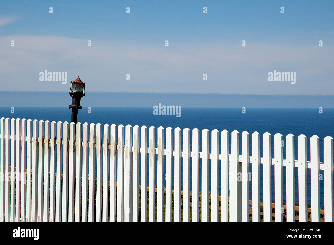 White Picket Fence & OceanStock Photo