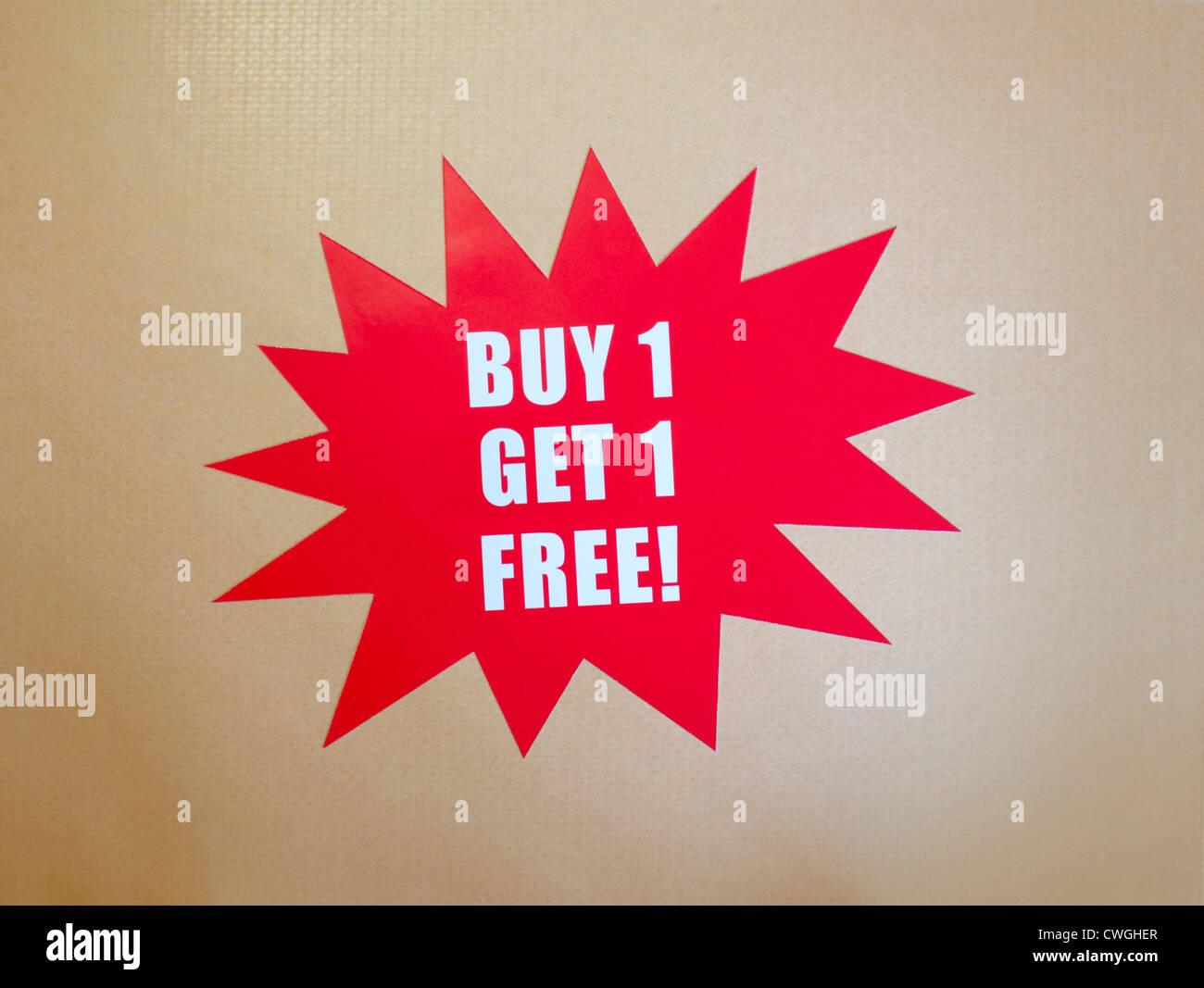 Buy one get one free Stock Photo: 50152111 - Alamy