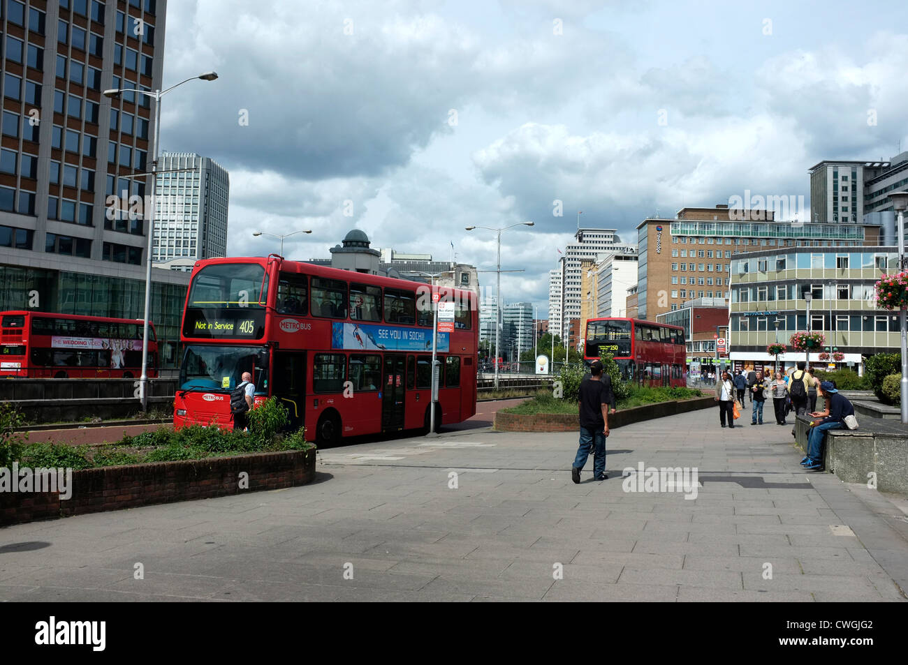 town of croydon surrey uk 2012 - Stock Image