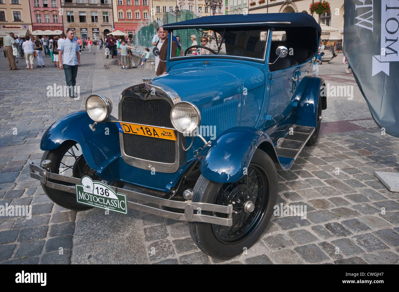 1930s Fort Model A at Motoclassic car show at Rynek (Market Square) in Wroclaw, Lower Silesia, Poland - Stock Image