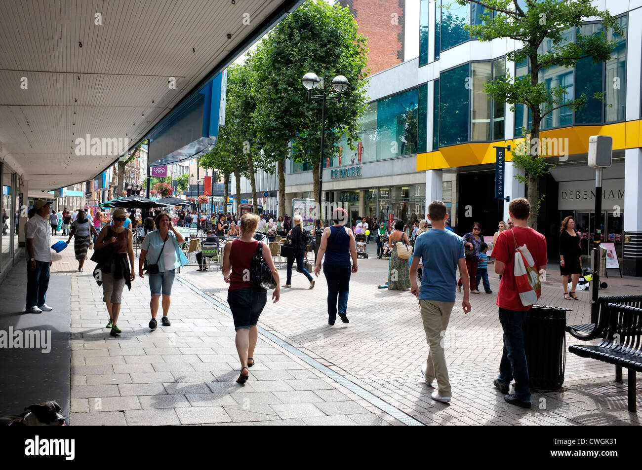 croydon town high street surrey uk 2012 - Stock Image