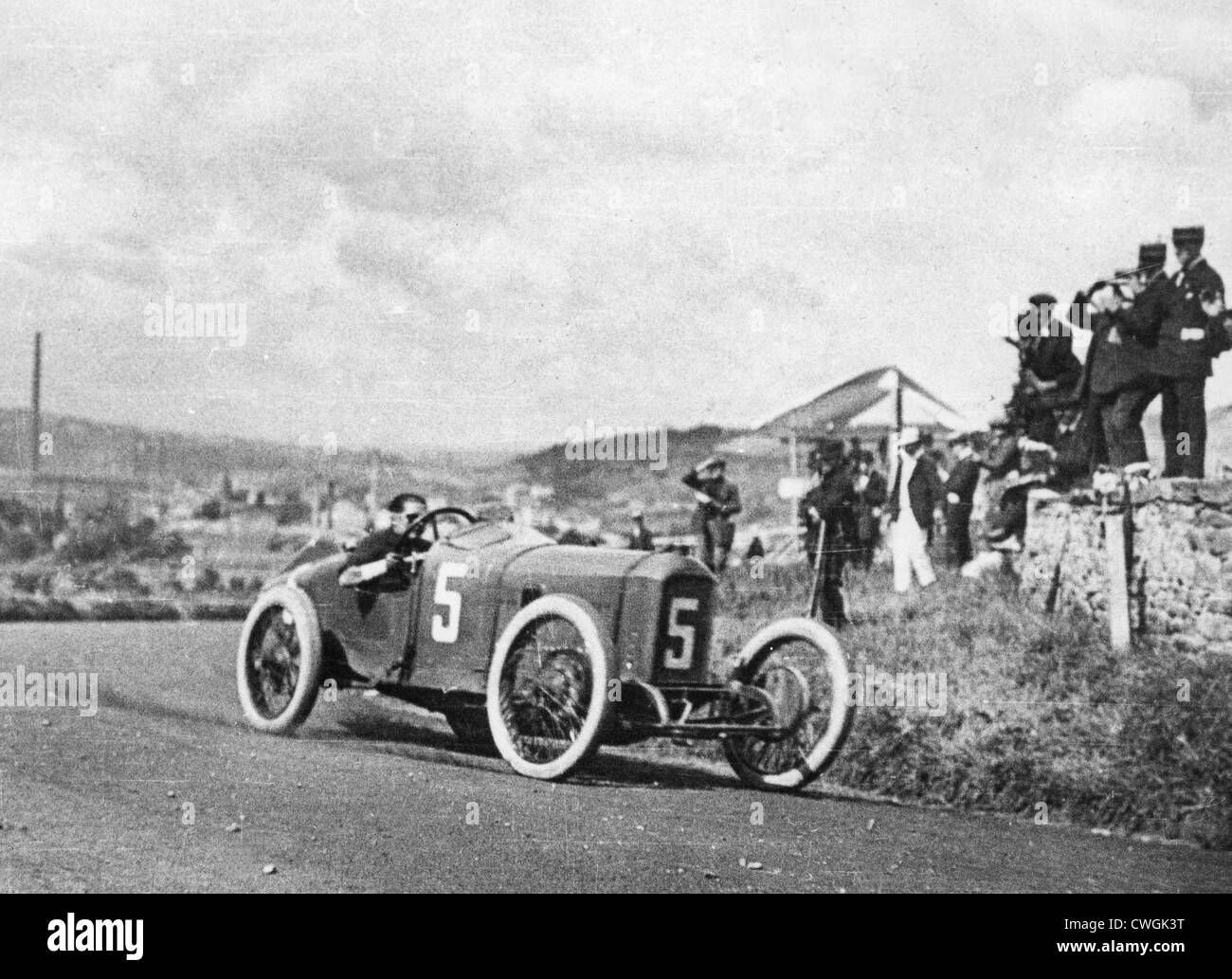 1914 Peugeot, French Grand Prix. G. Boillot - Stock Image