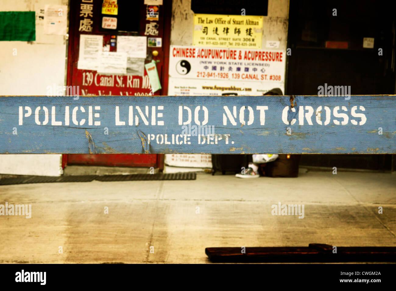 New York police line do not cross - Stock Image