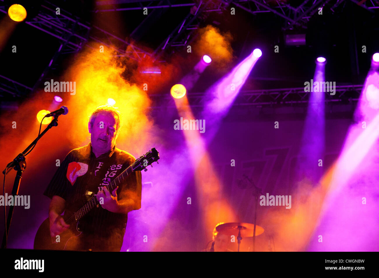 BENICASSIM, SPAIN - JULY 14: Buzzcocks band performs at FIB on July 14, 2012 in Benicassim, Spain. - Stock Image