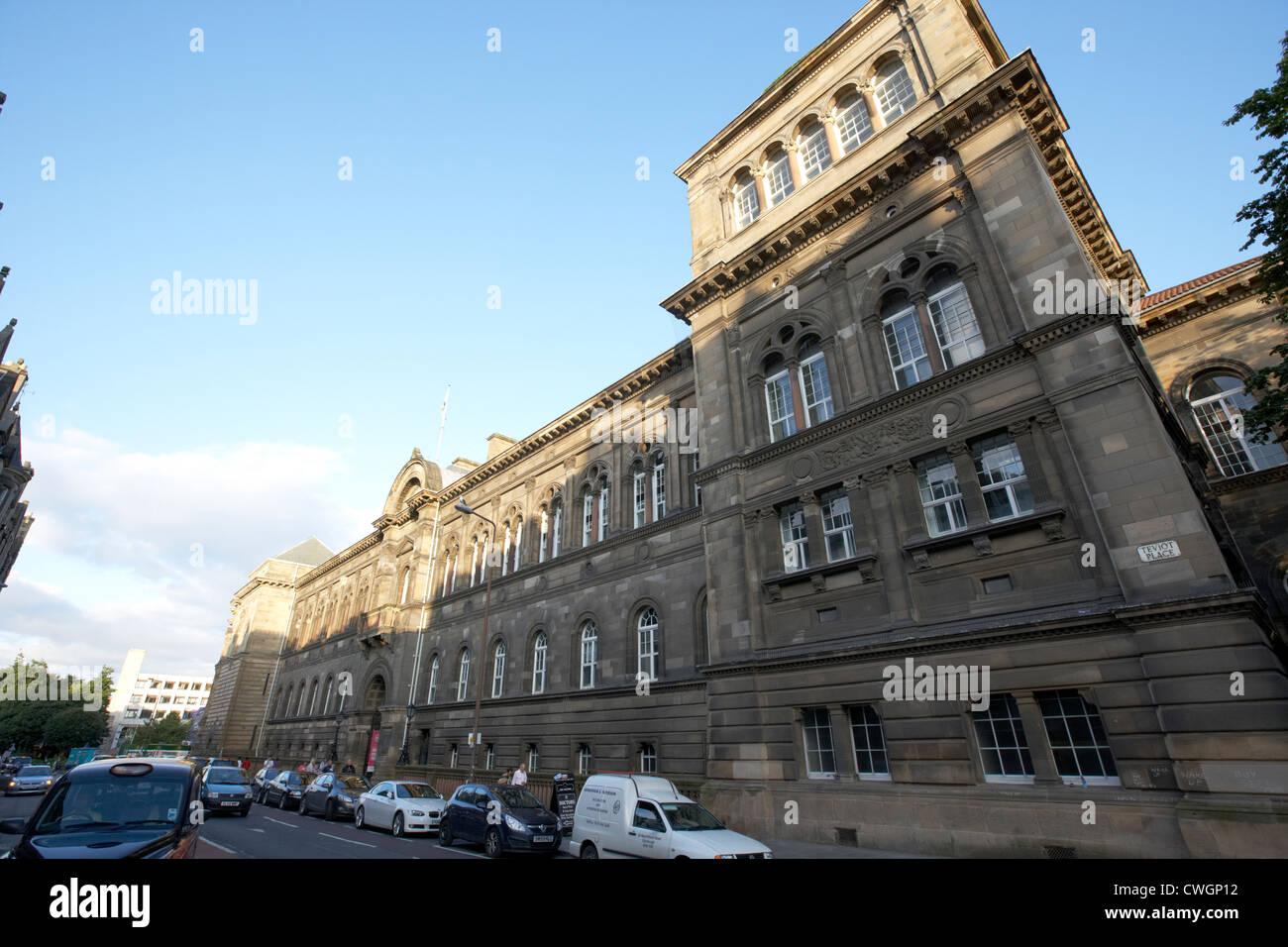university of edinburgh medical school on teviot place, scotland, uk, united kingdom - Stock Image