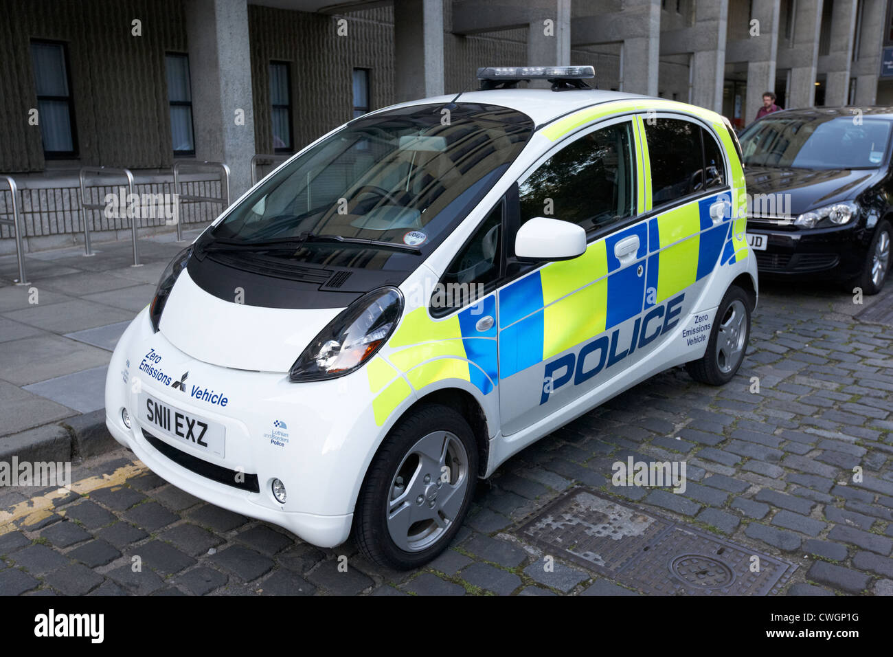 lothian and borders police zero emissions electric vehicle edinburgh, scotland, uk, united kingdom - Stock Image