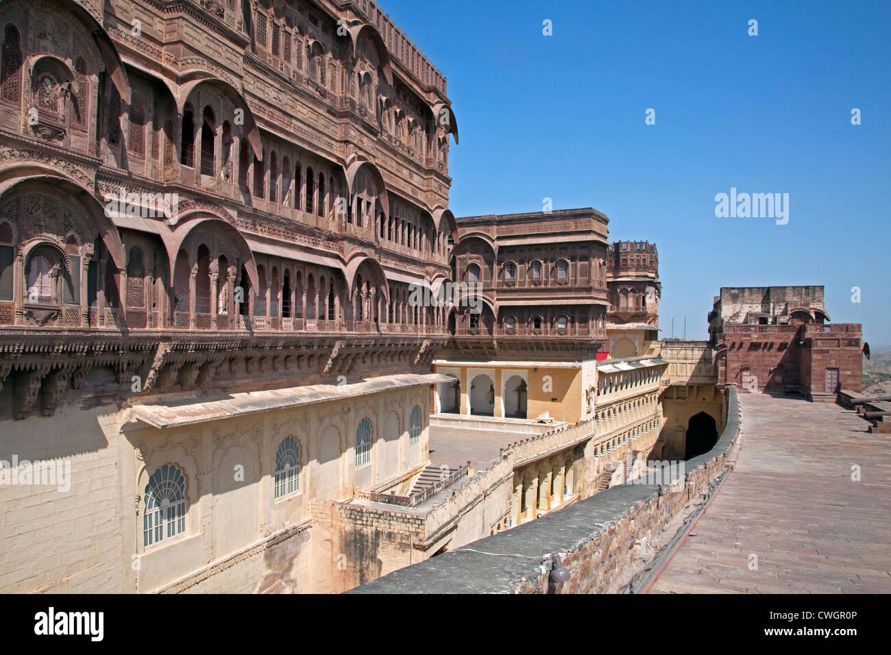Mehrangarh Fort in Jodhpur, Rajasthan, India - Stock Image