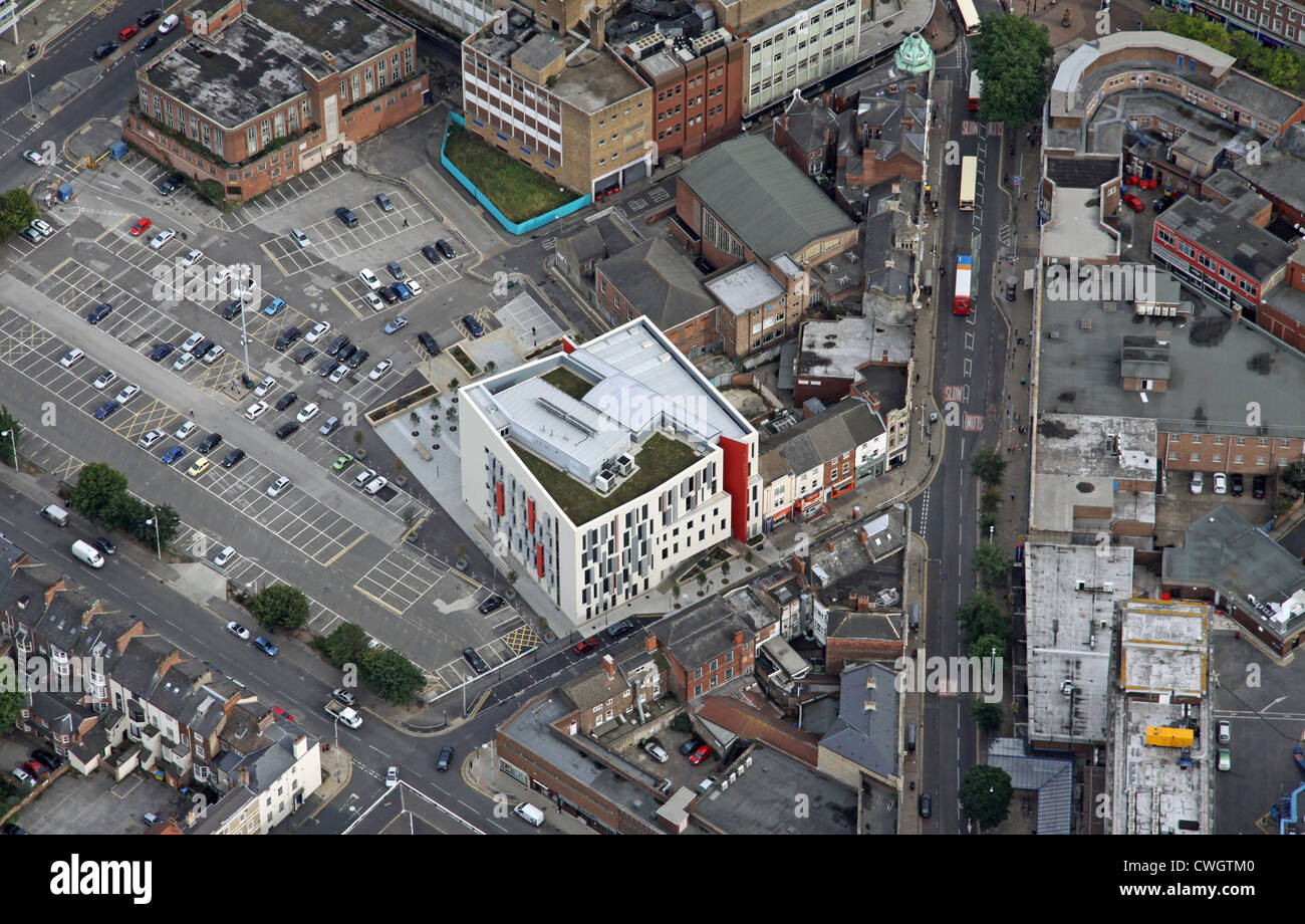 aerial view of Story Street Medical Practice, The Wilberforce Health Centre, Hull, East Yorkshire - Stock Image
