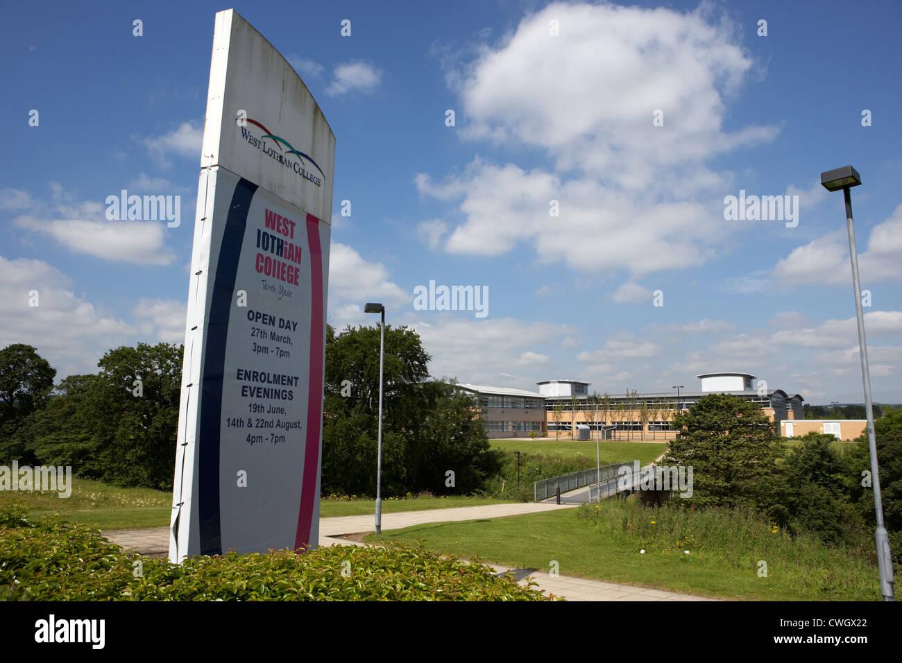 west lothian college Livingston, Scotland, uk, united kingdom - Stock Image