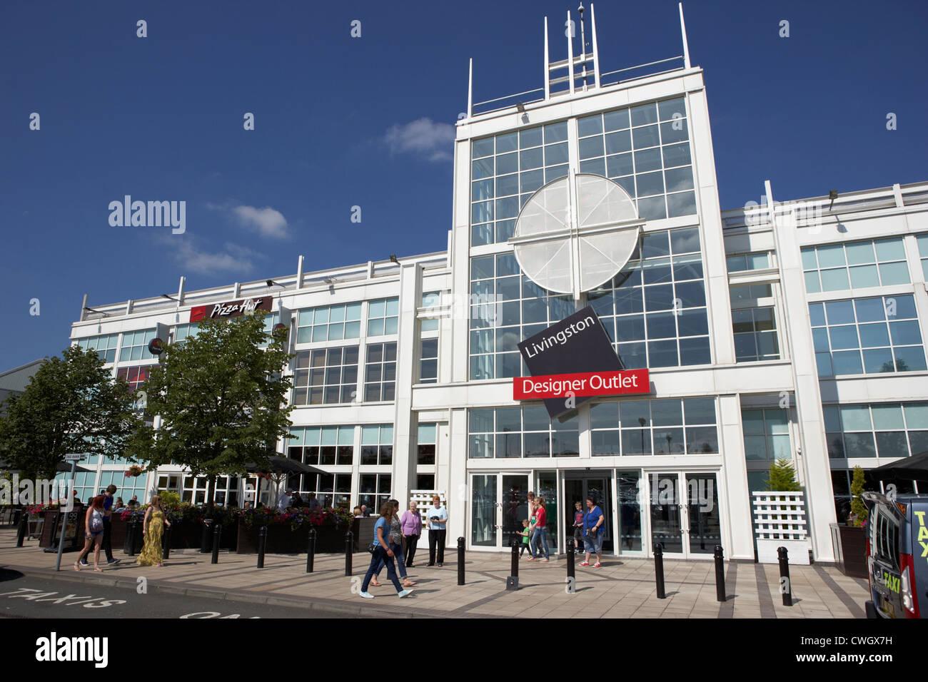 mcarthur glen designer outlet Livingston, Scotland, uk, united kingdom - Stock Image