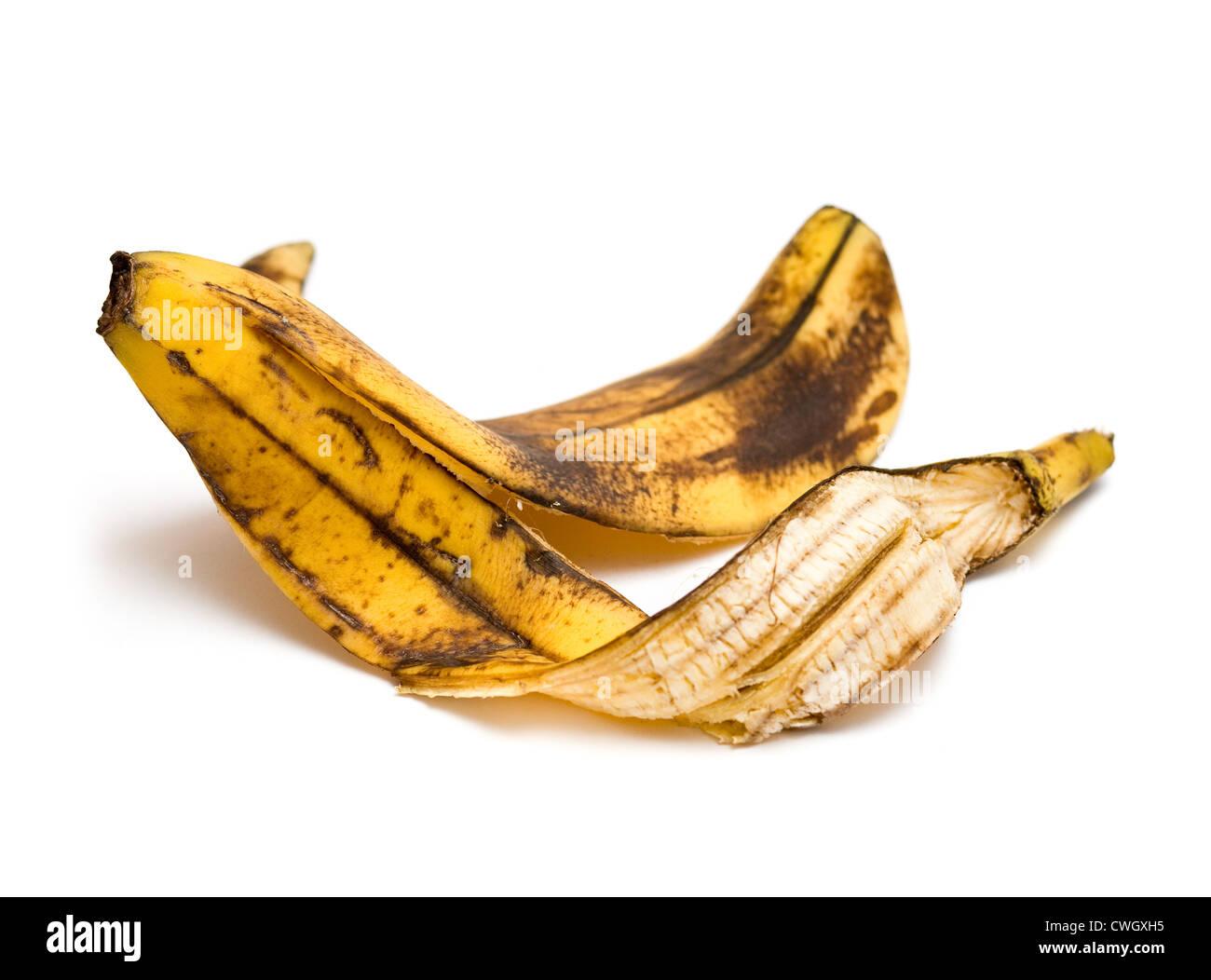 Banana peel for mistake concept - Stock Image