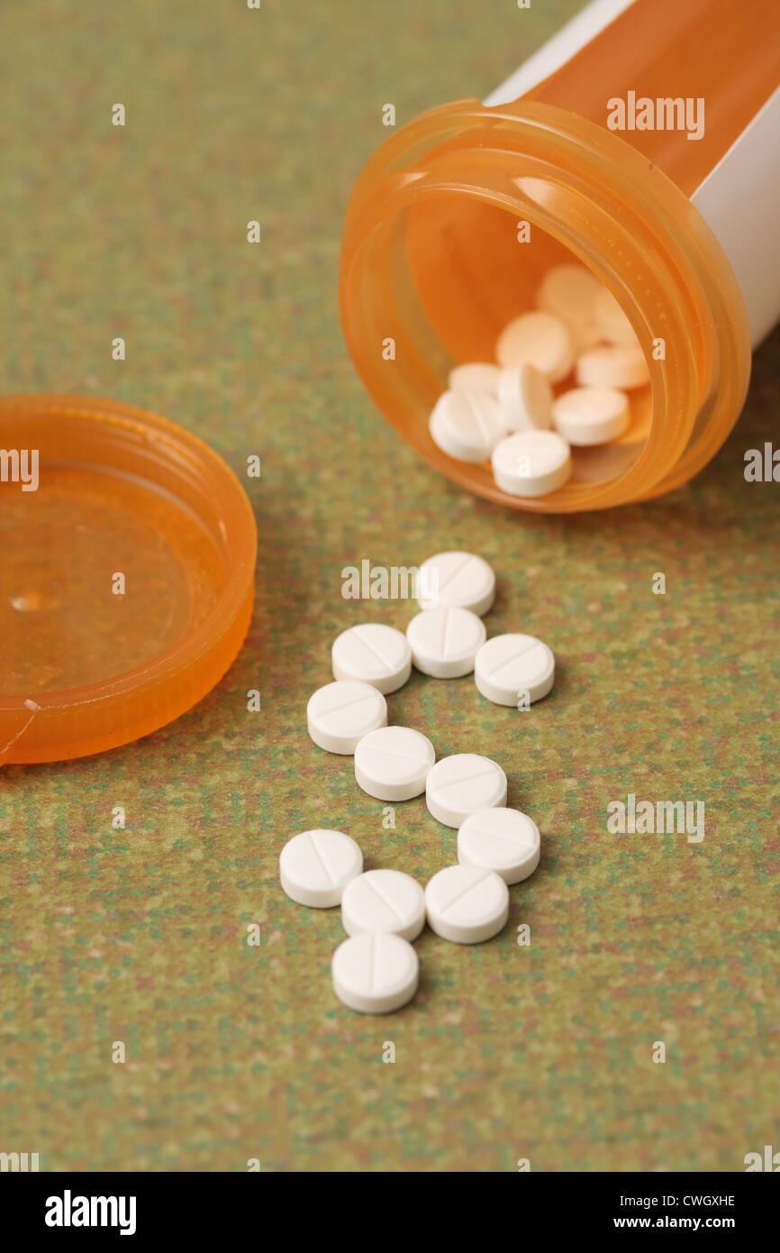 Health care and prescription drug costs - Stock Image