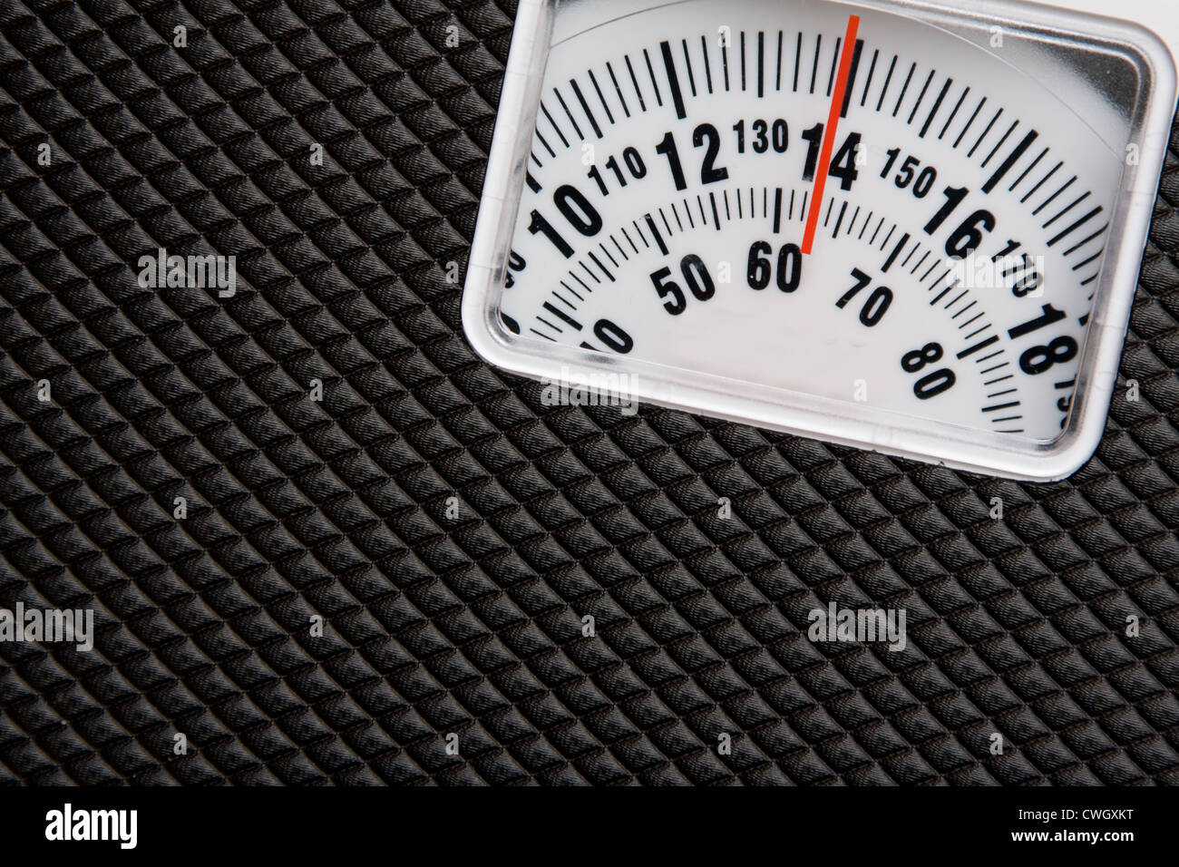 Scale showing weight - Stock Image