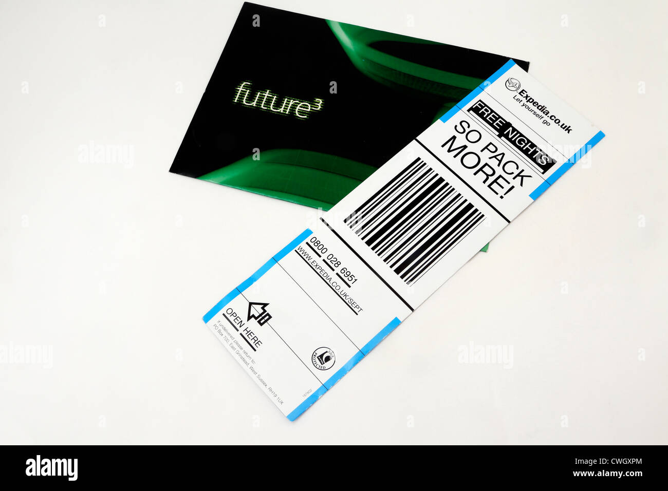 Leaflets For Future3 And Expedia - Stock Image