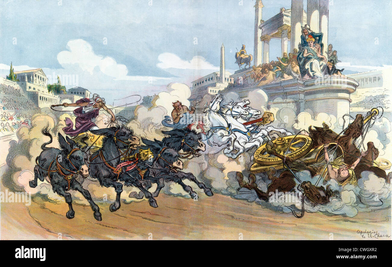 Chariot race illustration Stock Photo