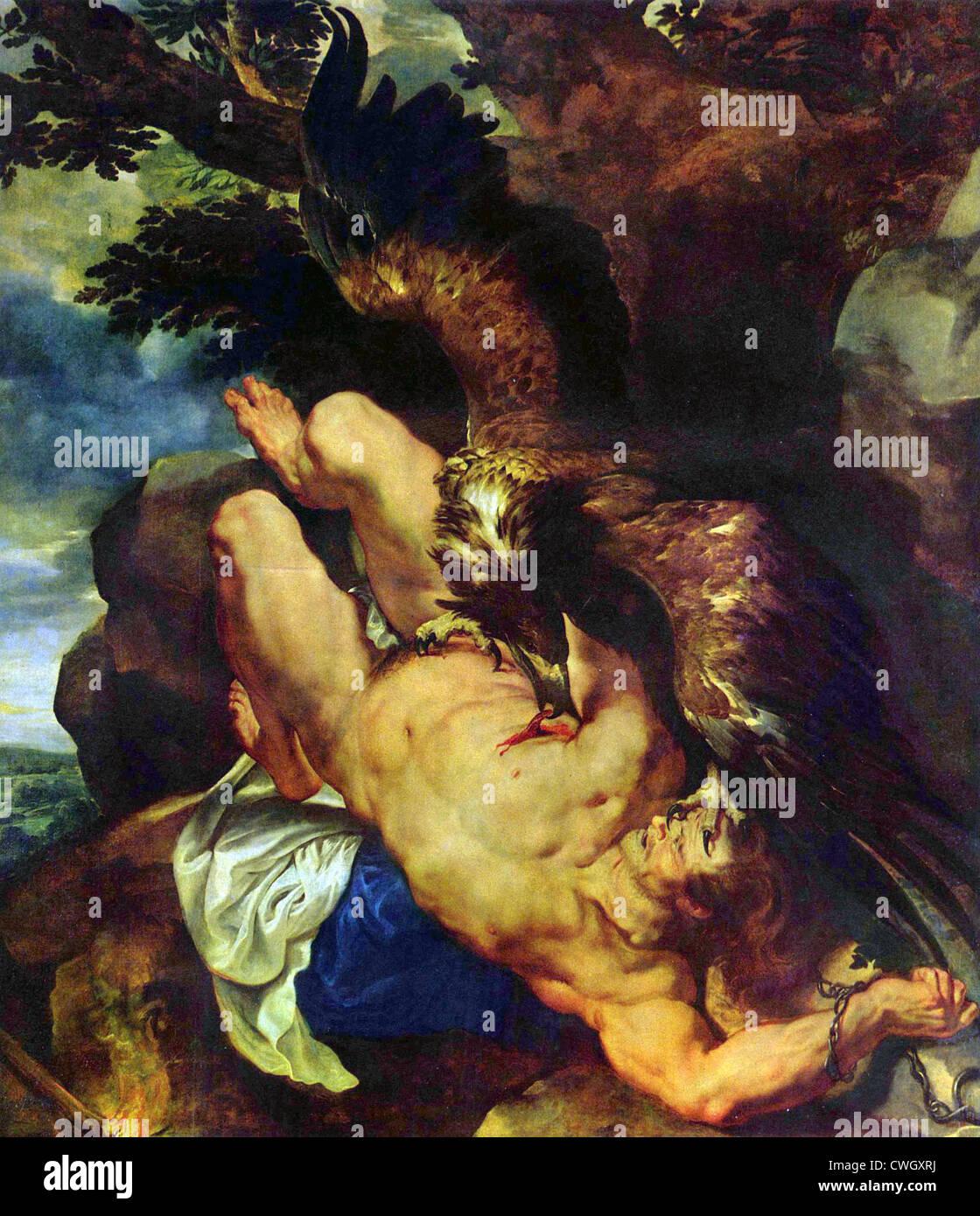 Prometheus Bound by Peter Paul Rubens - Stock Image