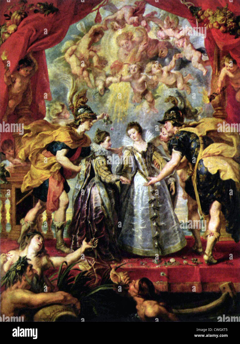 The Exchange of Princesses, from the Marie de' Medici Cycle. - Stock Image