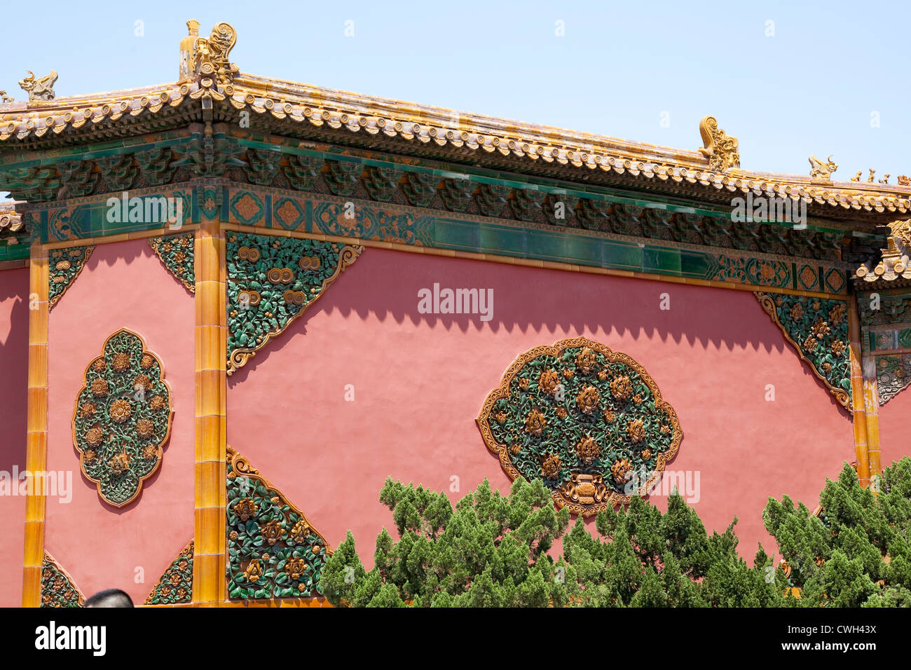 ceramic decorations in the Forbidden City - Stock Image