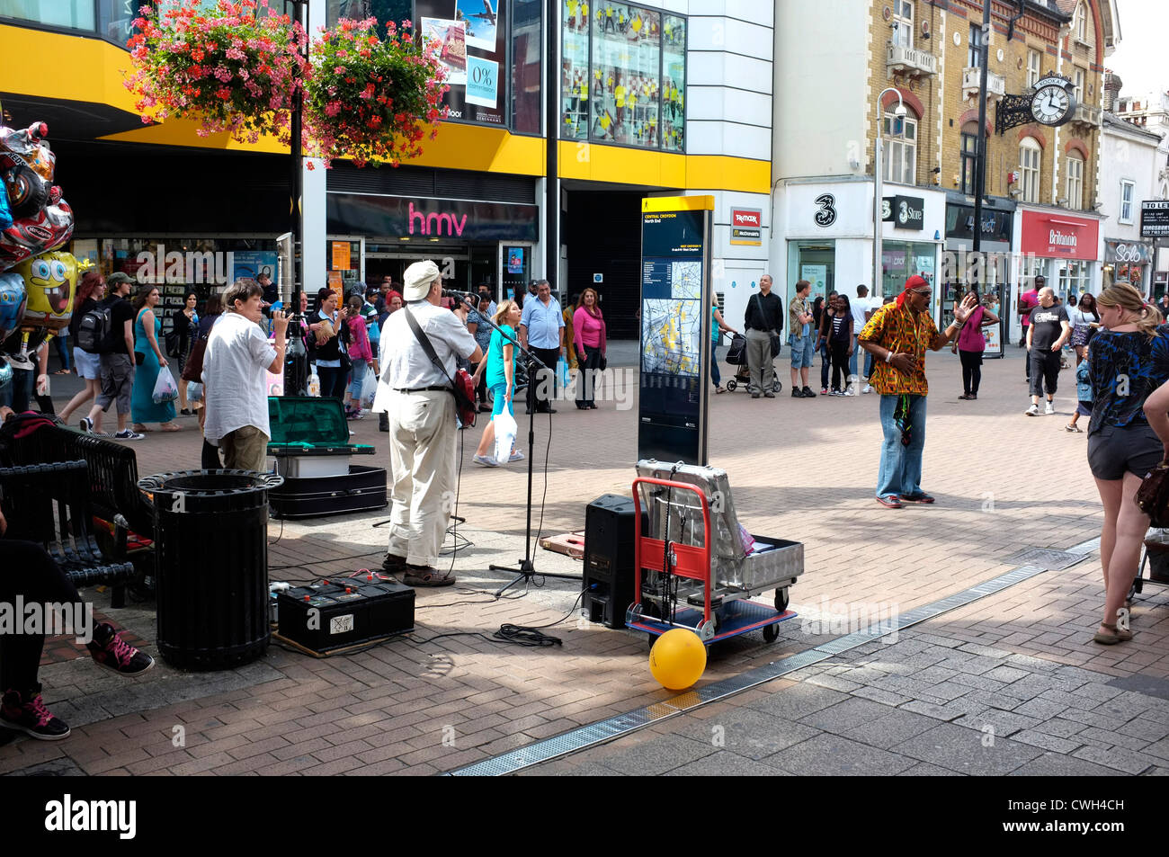 croydon town shopping high street surrey uk 2012 - Stock Image