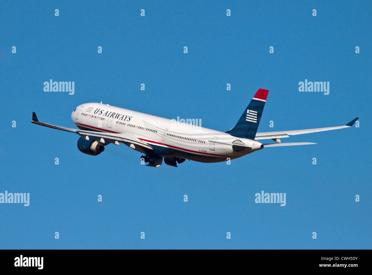 US Airways Airbus A330, Gatwick Airport, Sussex, England - Stock Image