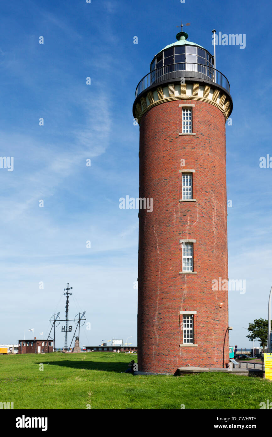Old lighthouse 'Alte Liebe' at Cuxhaven - Stock Image