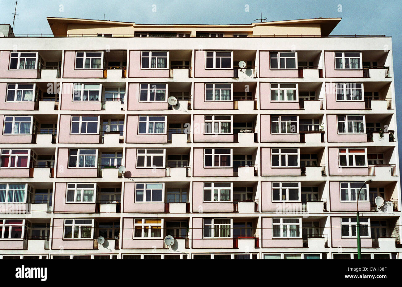 Apartment block in Posen (Poznan), Poland - Stock Image