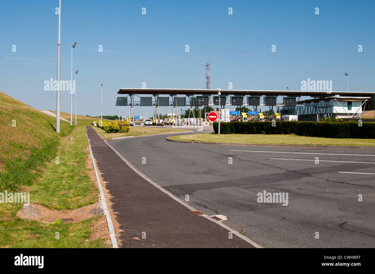 A29 motorway toll, France. - Stock Image