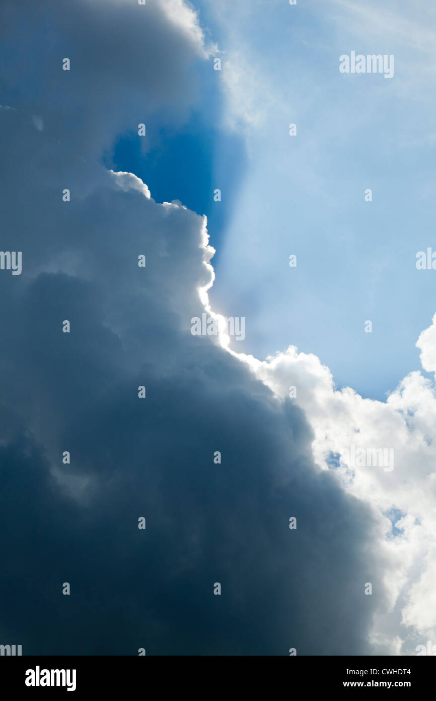 A cloud with a silver lining - Stock Image