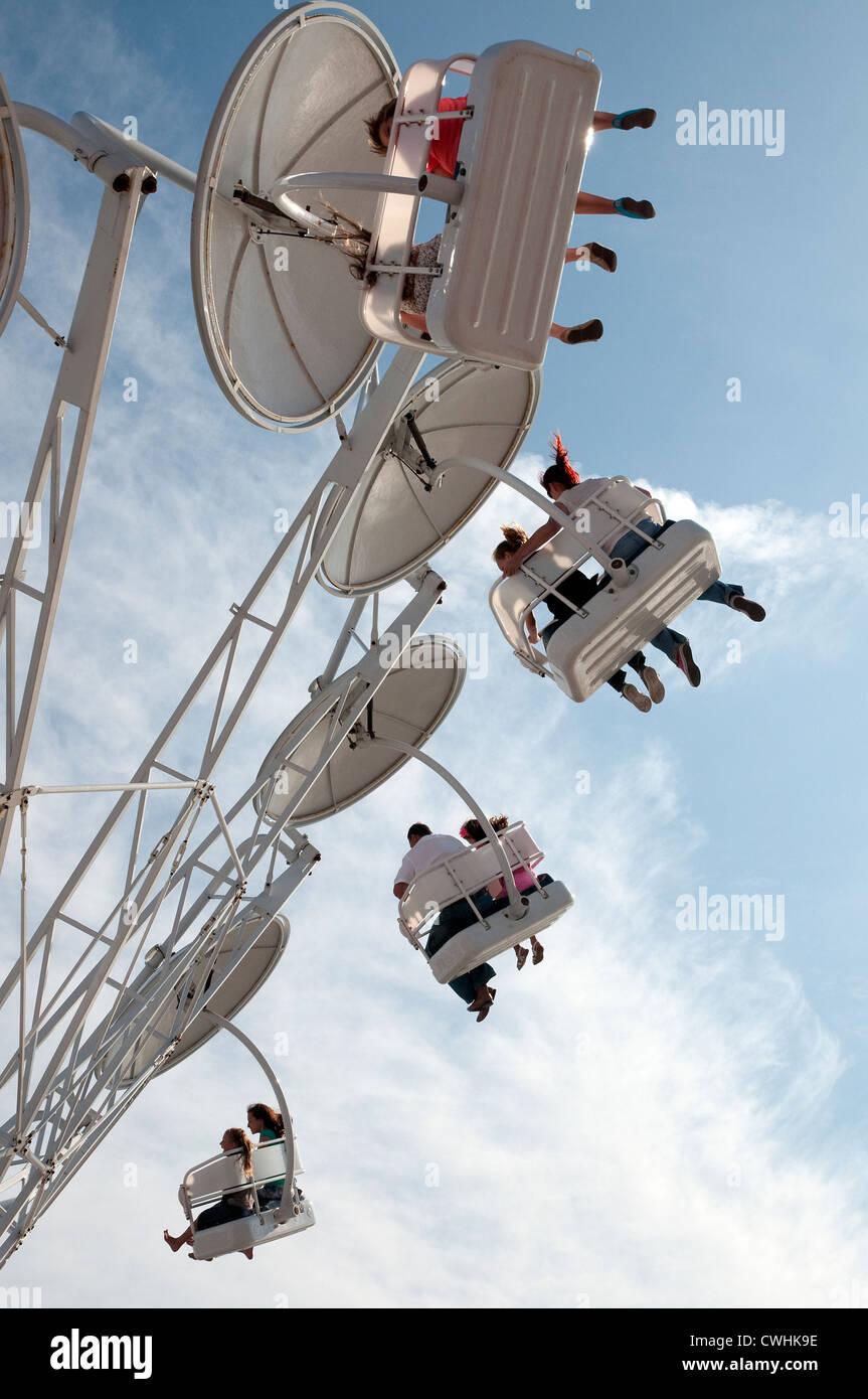 funfair ride, clacton on sea, essex, england - Stock Image