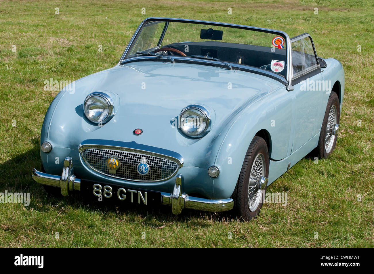 Austin-Healey Frogeye Sprite open top classic sports car. - Stock Image