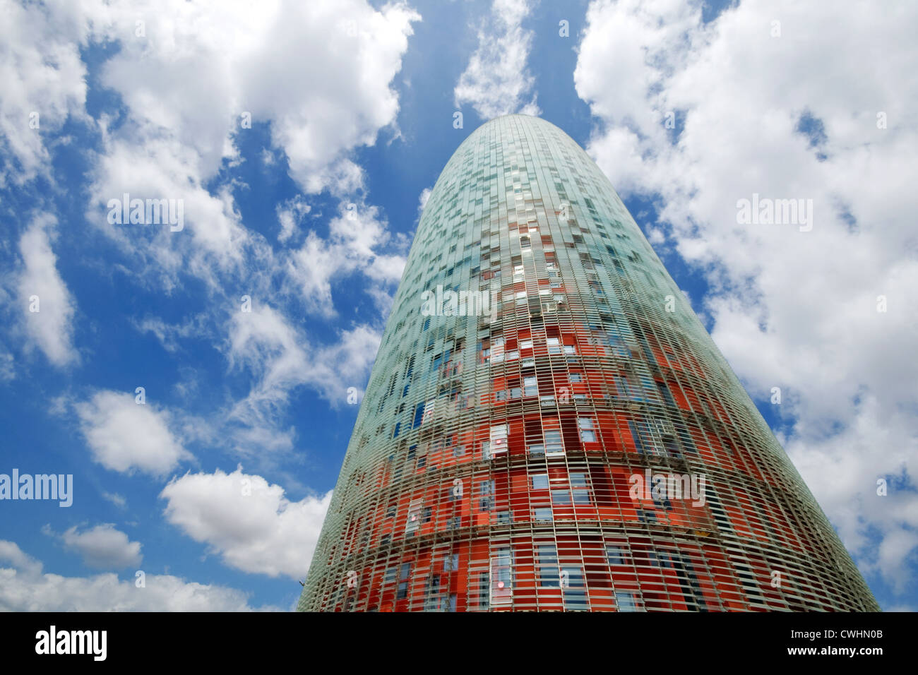 office building,barcelona,torre agbar - Stock Image