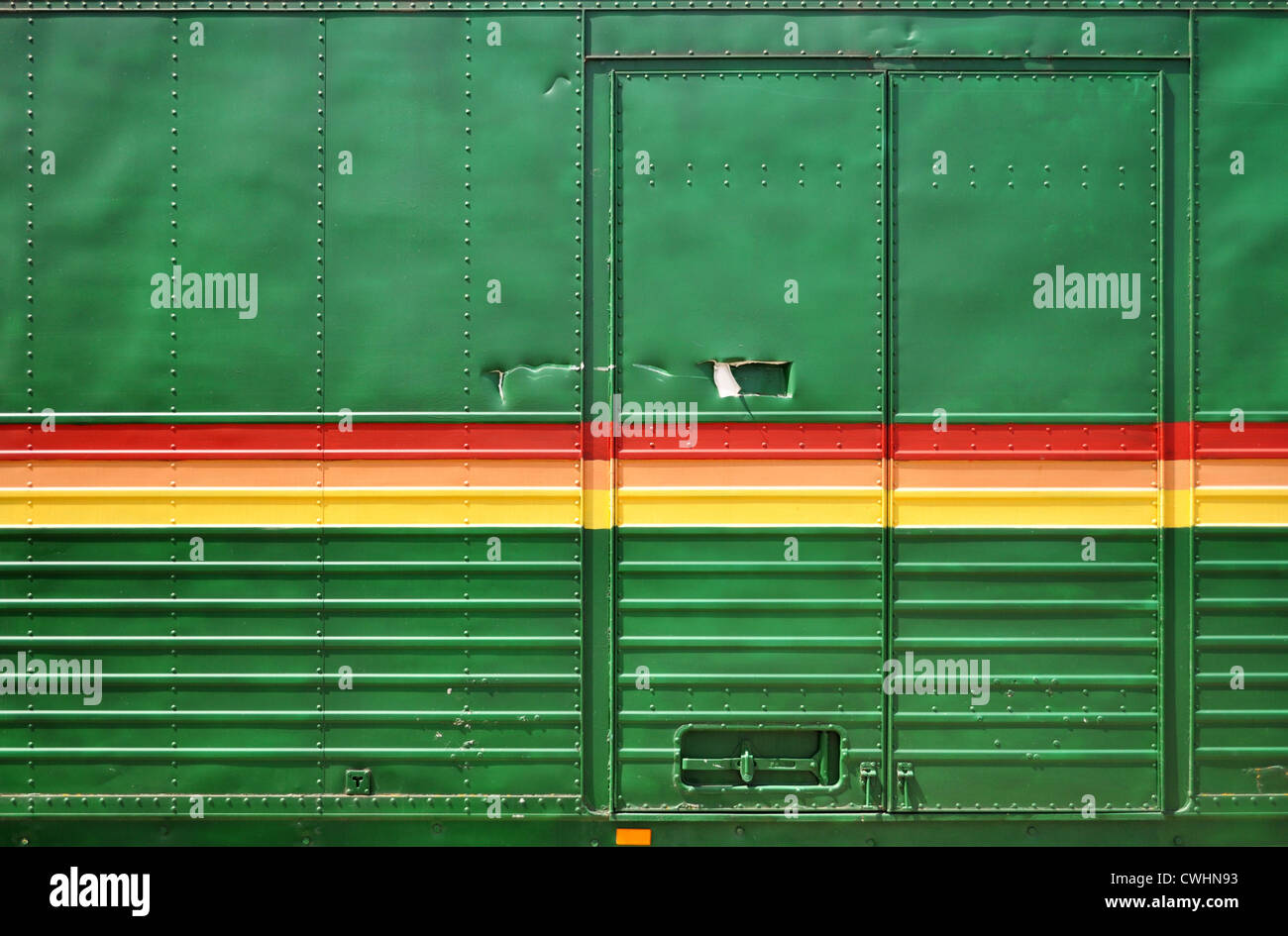 cargo container,truck trailer - Stock Image