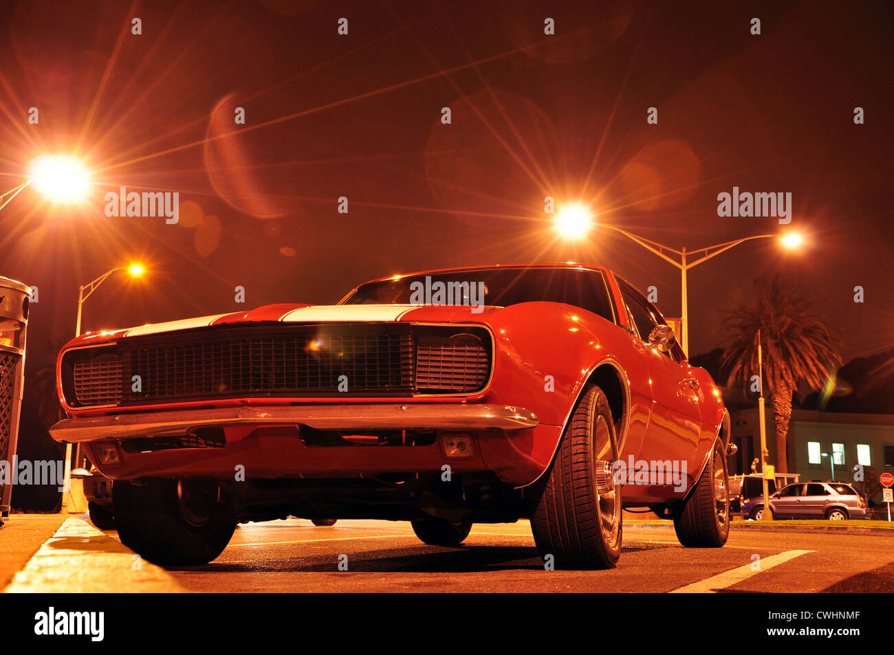 oldtimer,sports car,muscle car - Stock Image