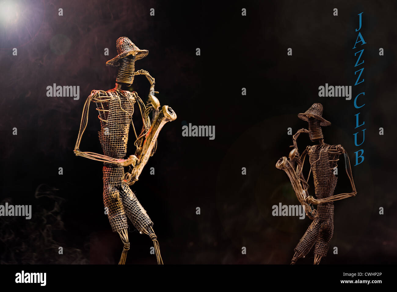 Interpretation of a smoky jazz club. - Stock Image