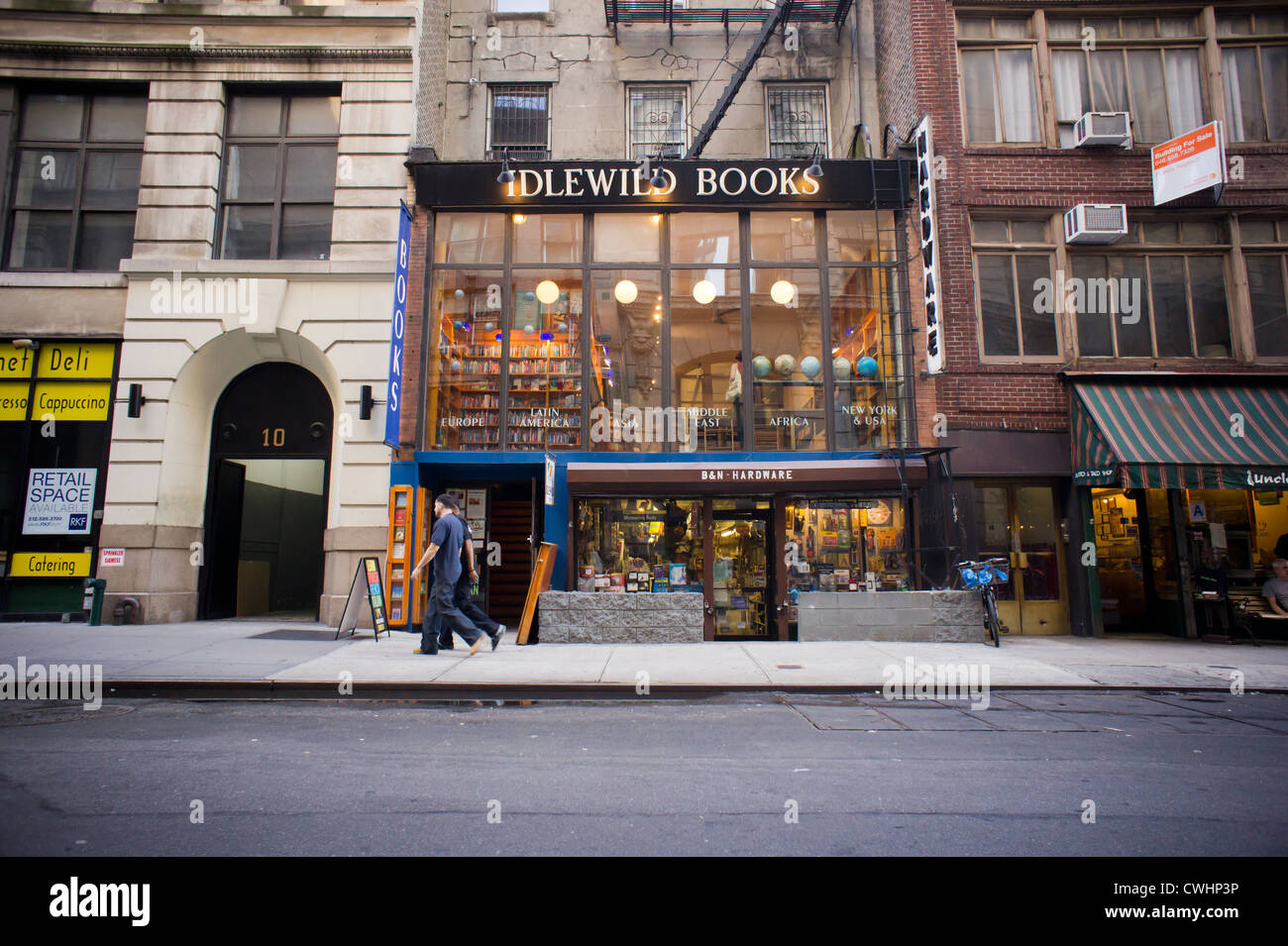Idlewild Books, an independent bookstore specializing in travel and world literature - Stock Image