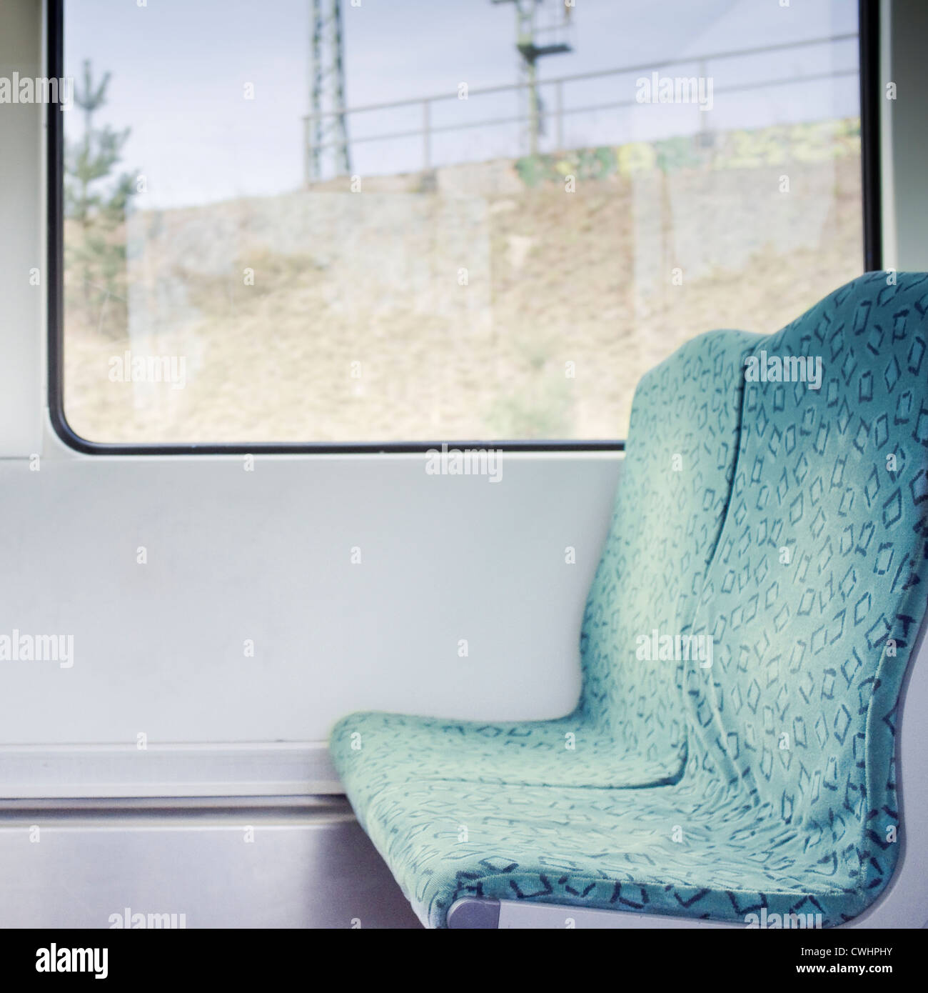 subway train,s-bahn,window seat - Stock Image