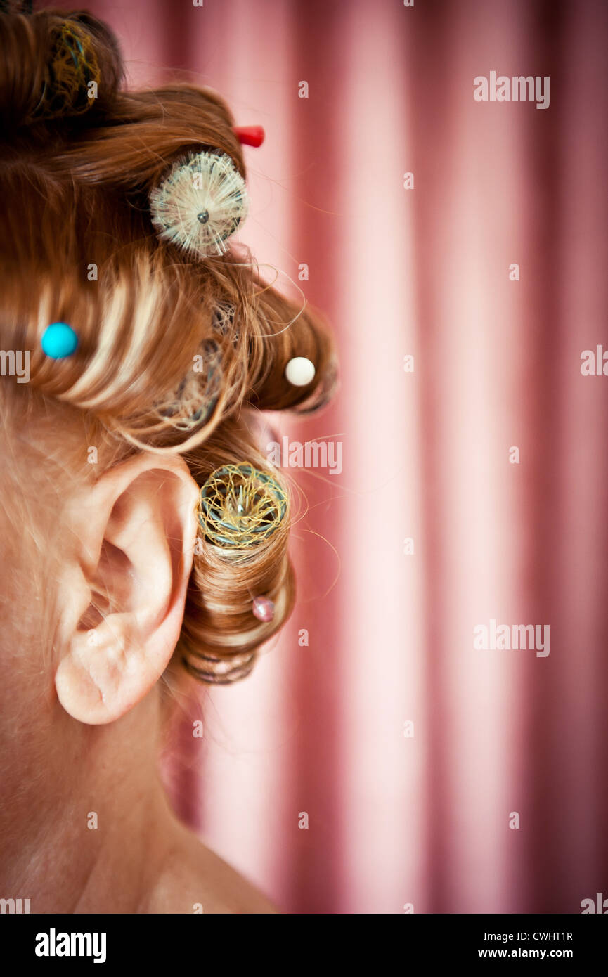 hairdressing,curlers,haircare - Stock Image