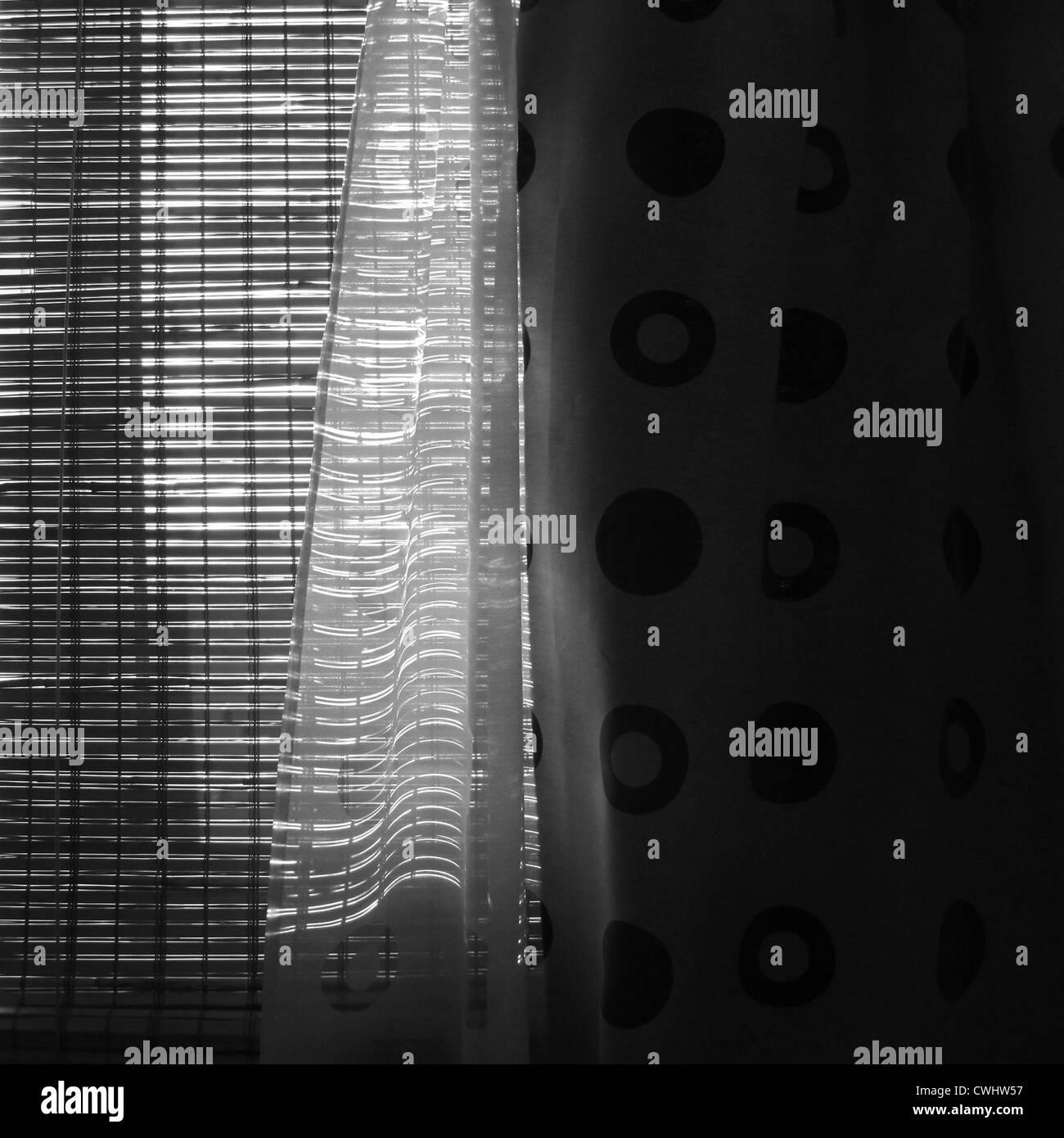 curtain,light incidence,curtain - Stock Image