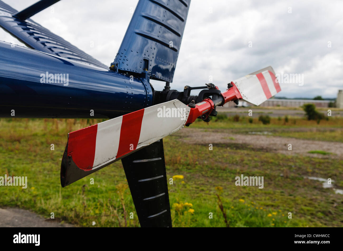 Tail rotor of 1968 Hughes OH-6A Cayuse helicopter - Stock Image