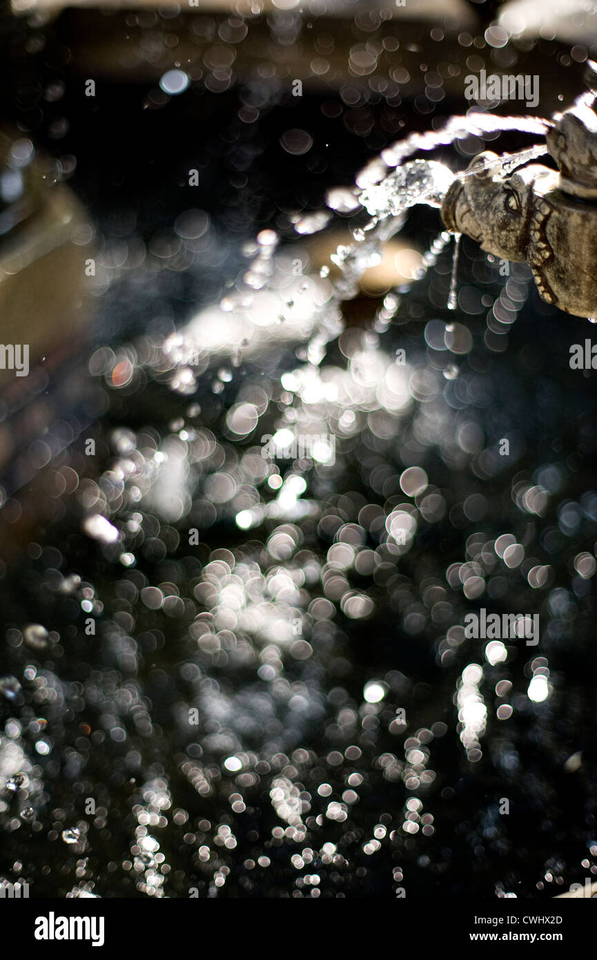 waterdrop,injecting,blips - Stock Image