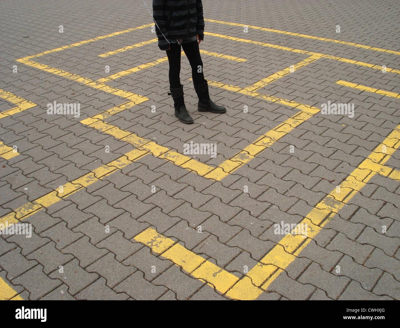 orientation,labyrinth - Stock Image