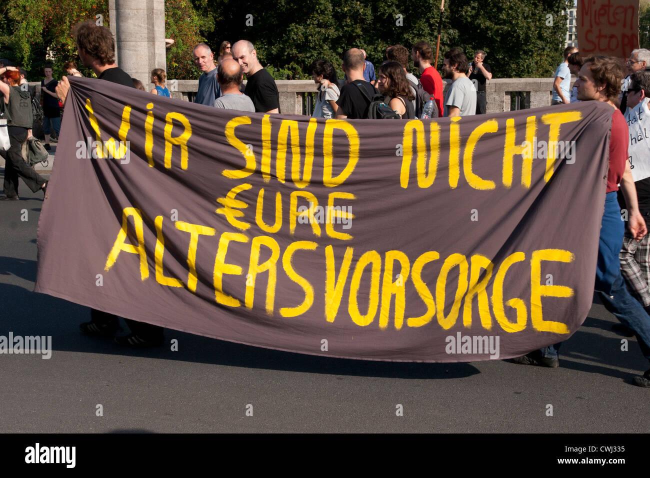 Demonstration in Berlin. Stock Photo