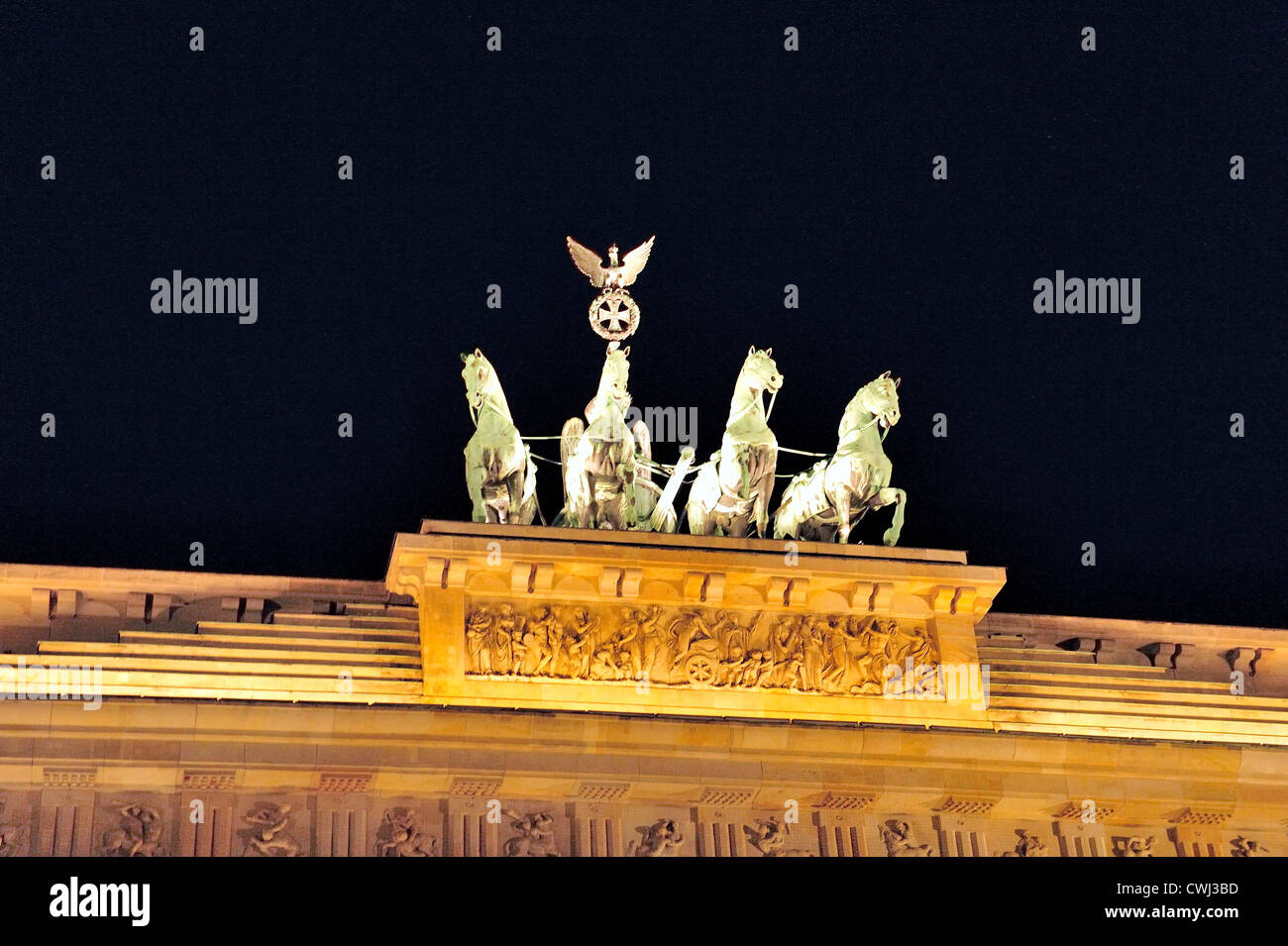 The Brandenburg Gate Quadriga - Stock Image