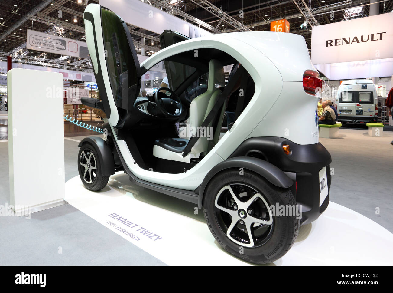 Electric car Renault Twizy at the Caravan Salon Exhibition 2012 on August 27, 2012 in Dusseldorf, Germany Stock Photo