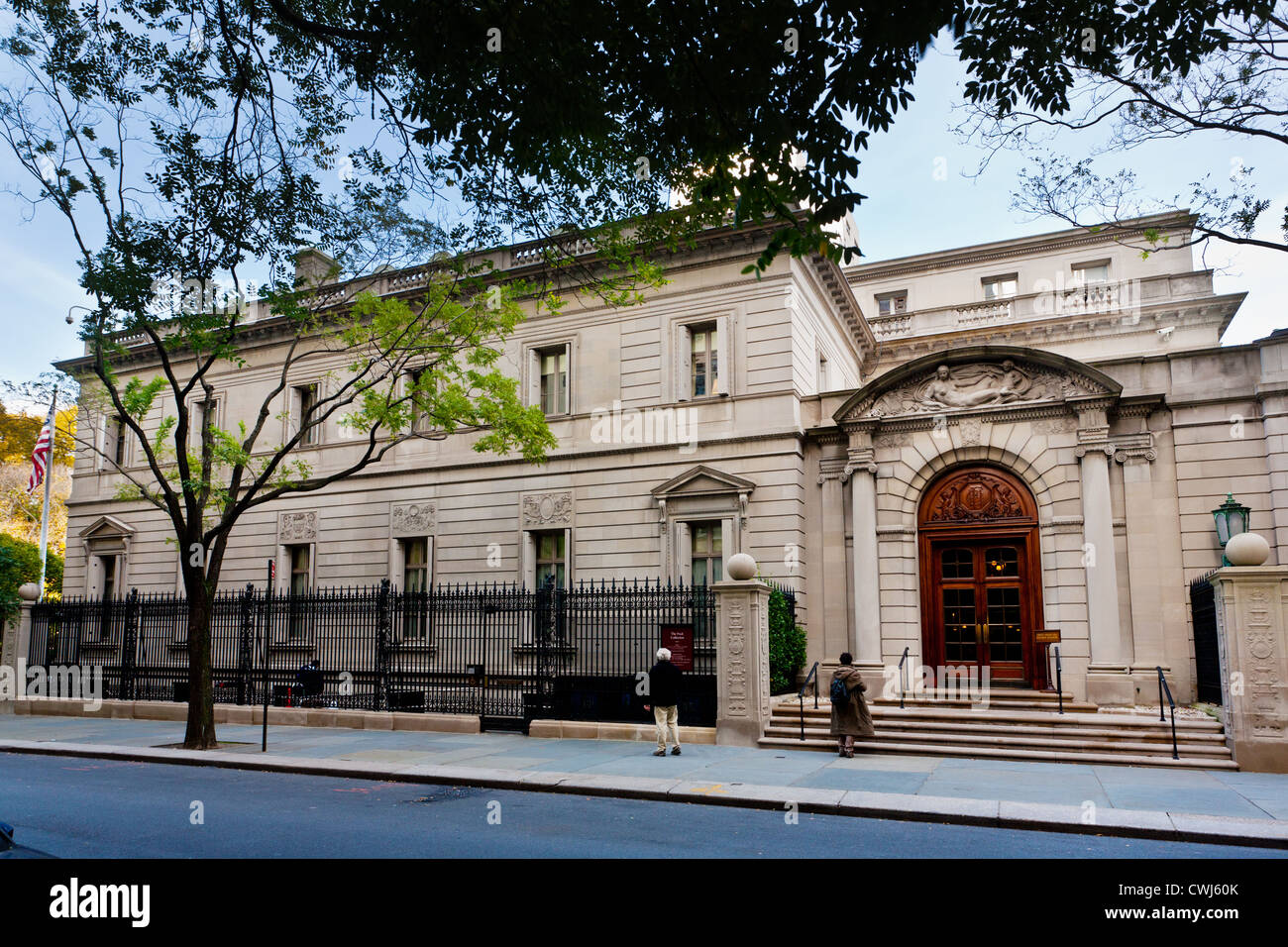 Frick Collection has 3 Vermeers, 5th Avenue, Museum Mile, New York City, USA - Stock Image