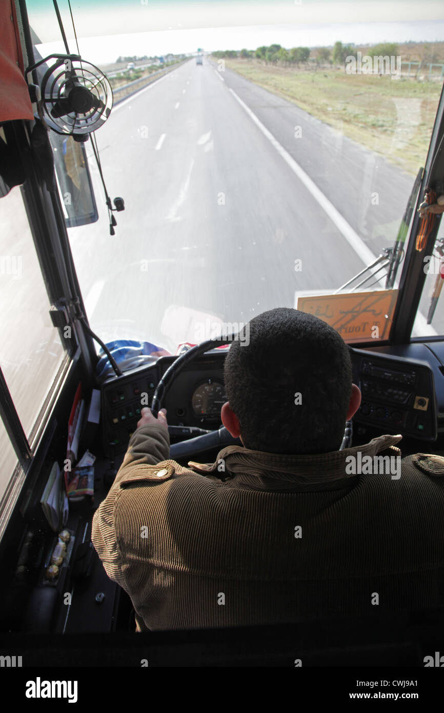 Bus driving - Stock Image