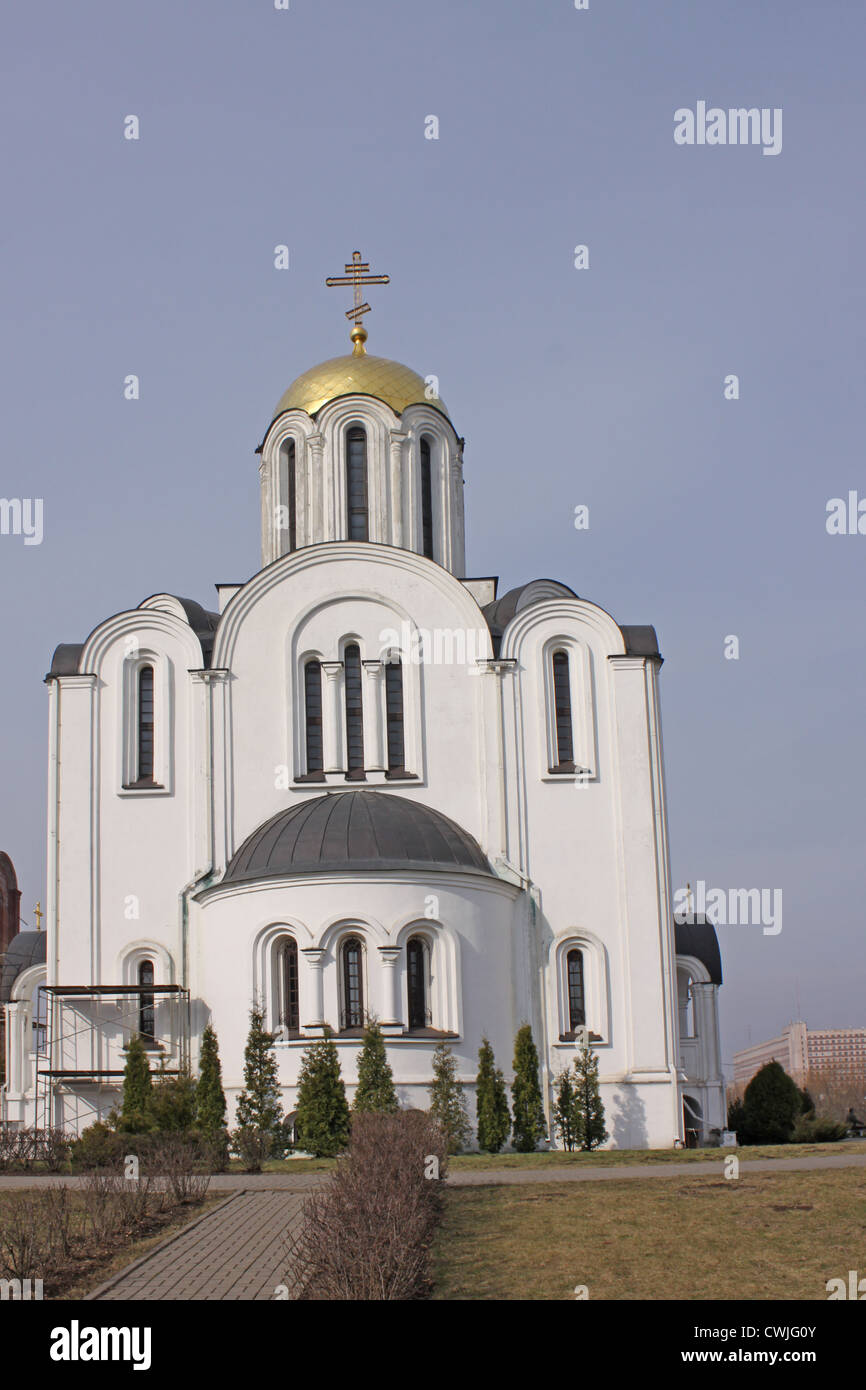 Belarus. Minsk. The temple complex of the victims of the Chernobyl disaster. Church of St. Euphrosyne of Polotsk - Stock Image